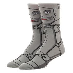 e482f9b495e The Tin Man 360 Wizard of Oz Character Crew Socks Bioworld 1 Pair All  Around