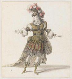 """Recueil """"Costumes des Fêtes, Mascarades - Théâtre de Louis XIV"""" - Jean I Bérain (1640-1711) - Projet de costume d'opéra: Prince – Paris, Musée du Louvre"""