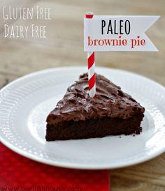 paleo brownie pie - eggs, cocoa powder, honey, coconut oil, vanilla and salt!