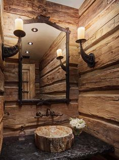 This incredible rustic ranch house was designed by Miller-Roodell Architects, located in the beautiful city of Red Lodge, Montana. Stunning DIY Rustic Bathroom designs to create for your bathroom decor Rustic Bathroom Designs, Rustic Bathrooms, Log Cabin Bathrooms, Bathroom Ideas, Boho Bathroom, Chic Bathrooms, Dream Bathrooms, Bathroom Shelves, Bathroom Wall