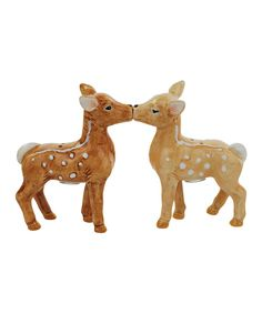 Look at this Fawn Couple Salt & Pepper Shakers on #zulily today!