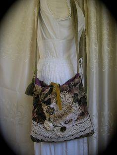 Embellished Carpet Bag handmade bohemian tapestry by GrandmaDede, $107.00