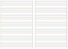 apprentissage de l'écriture  Ecriture Dys Feuille lignée Aide à l'écriture