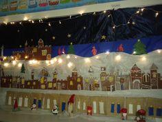 Piparilinna -joulukalenteri (2.lk) Alkuopettajat FB -sivustosta / Mari Jauhiainen Christmas Calendar, Xmas Crafts, Teaching Art, Birthday Candles, Fair Grounds, Display, Winter, Inspiration, Advent