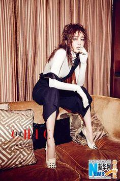 Actress Qin Lan  http://www.chinaentertainmentnews.com/2016/09/actress-qin-lan-covers-fashion-magazine.html