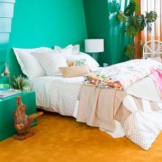 POLKA-DOT PRINTED SATIN BEDDING - Bedding - Bedroom | Zara Home United States of America