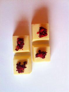 white chocolate red velvet bon bons
