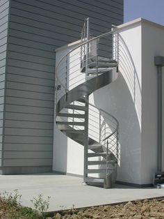 20 Best Outdoor Spiral Staircase Modern and Contemporary Staircase Outdoor, Spiral Staircase, Comfy Room Ideas, Cinder Block Fire Pit, Stairs To Heaven, Casa Retro, House Design Pictures, Bathroom Floor Plans, Steel Stairs