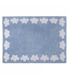 Dywan bawełniany Cenefa Nubes Azul/Blue 120x160, niebieski