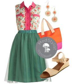 Lovely, flirty green skirt