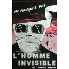 The Invisible Man (1933) 11x17 Movie Poster (French)
