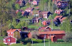Swedish homes painted red was a sign of wealth