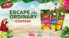 """Grab 1 of 3 Trips to Jamaica. DEL MONTEO """"Escape The Ordinary Contest"""" is open @Canada. Deadline August 31. https://a.cstmapp.com/p/18564?lc=eng&ep1=tw"""