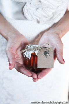 Local honey wedding favors