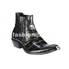 Pánske kožené kovbojky čierne - fashionday.eu