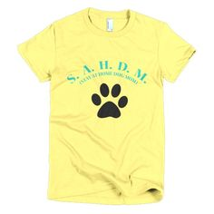 S.A.H.D.M - STAY AT HOME DOG MOM Short sleeve women's t-shirt