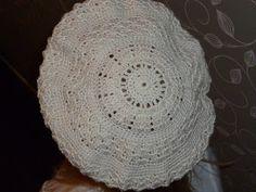 Prachtige gehaakte baret, met patroon