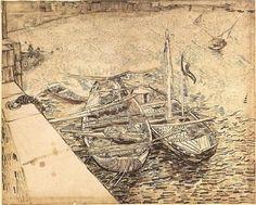Boating with Van Gogh | Paint Watercolor Create http://paintwatercolorcreate.blogspot.com/2013/03/boating-with-van-gogh.html