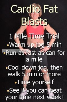Great fat blaster, weight loss exercise, busy women. Get competitive against yourself with this mile time trial and then try it with a friend too! CLICK HERE 4 MOTIVATION TO DO IT!