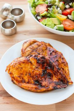 Grilled Honey Chipotle Chicken // substitute clean oil or melted butter for canola // looks delicious