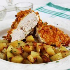 Kukoricapelyhes csirkemell sütőben sütve Potato Salad, Food And Drink, Pork, Potatoes, Ethnic Recipes, Kale Stir Fry, Pigs, Potato