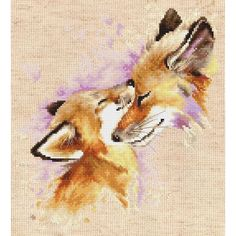 Cross Stitch Kit Foxes or Cat,Dog,Dogs DIY Cross Stitch Pattern Modern Cross Stitch Luca-S Wall Decor Home decor Gift Free Shipping