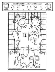 "Fall Activity Coloring Pages This ""Hidden Letters-Pictures"" activity is part of a four page set of printables perfectly suited for the season! Sports Theme Classroom, 2nd Grade Classroom, First Year Teachers, New Teachers, Coloring Sheets, Coloring Pages, Hidden Letters, Instructional Planning, Magic Squares"