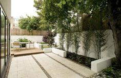 Modern patio garden