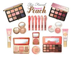 """Sweet Peach"" by amalilly619 ❤ liked on Polyvore featuring beauty, Too Faced Cosmetics, Sephora Collection and peachlipstick"