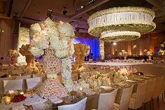 Event Design and Floral - Empty Vase Florist of La | Location and Caterer - Beverly Wilshire Hotel (A Four Seasons Hotel) | Planner - International Event Company | Rentals & Draping - Revelry Event Designers | Lighting - Images by Lighting | Photo - Andrena Photography