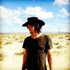 "kinneyandreedus: ""Norman Reedus + Cowboy Hat (on the set of Sky) """