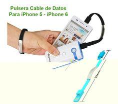Pulsera y Cable de Datos Para iPhone 5 - iPhone 6 modelo V 1154 -  No os podéis imaginar la gran cantidad degadgets que se creanpara los usuarios de Apple hoy en día. Uno de los que más llamativos esesta pulsera. Como podéis ver, no sólo se trata de uncomplemento, sino que además ¡es un cable para iPhone! Gracias a que cuenta con un puerto USB podréis... - https://www.vamav.es/producto/pulsera-y-cable-de-datos-para-iphone-5-iphone-6-modelo-v-1154/