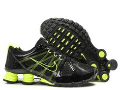 Shox Nike Shox Agent Black Neon Shoes  Nike Shox Agent - This Nike Shox  Agent Black Neon Shoe features black mesh and patent leather upper  construction. 263353783