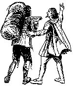 'Do you see yonder wicket Gate?' Evangelist pointing Christian in Bunyan's Pilgrims Progress to the way of salvation