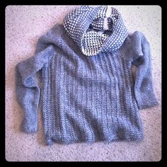 Gap sweater and scarf brand new never worn Super soft and cozy sweater and scarf GAP Sweaters Crew & Scoop Necks