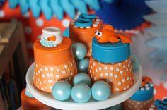 Jenny D's Birthday / Goldfish - Photo Gallery at Catch My Party Birthday Party Design, Birthday Parties, Birthday Ideas, Happy Bday Cake, Goldfish Party, Pepperidge Farm Goldfish, O Fish Ally, Sesame Street Party, Shark Party