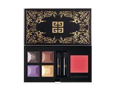Extravagancia palette, Givenchy, €65 - for Nicolas Degennes, creative director of make-up and colors at Givenchy, the idea behind this palette was to echo the beauty of nature. With the leafy patterned logo on the case, a combination of three purple tones, and a gold shade he does just that. To complete the look, he suggests pairing it with a subtle pink lip color.