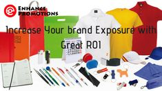 Increase your brand Exposure with great ROI: Enhance Promotions #Promotionalproducts #Business #Marketing #Branding #Gifts #promotions #Australia