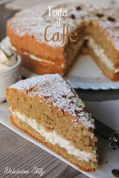 Coffee cake, soft and creamy recipe – Pastry World Sweet Recipes, Cake Recipes, Dessert Recipes, Food Cakes, Italian Desserts, Italian Recipes, Cakes Originales, French Cake, Torte Cake