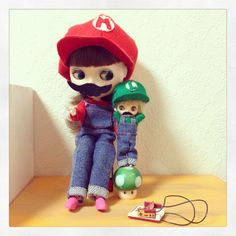 SUPER MARIO Blythe & Luigi petit blythe