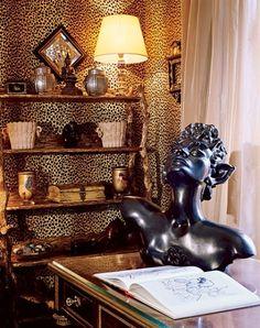Mary Macdonald leopard walls. Incredibly good style.
