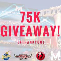 THANK YOU for helping us hit 75k fans on @facebook! Today ONLY be one of the first 75 people to show this post to our customer service desk for a FREE BEER from @pbrrockbar @blondiessportsbar or @sincitybeer. MUST BE 21 YEARS OR OLDER TO REDEEM by miraclemilelv
