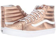Vans SK8-Hi Slim (Metallic) Rose Gold/True White - Zappos.com Free Shipping BOTH Ways