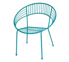 These colourful, retro-inspired chairs would make a fun and summery addition to any backyard patio or balcony #indigo #perfectsummer
