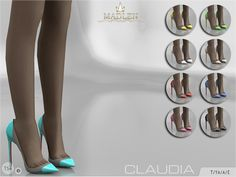 Madlen Claudia Shoes New pointy shoes with transparent paneling to the sides. Come in 9 colours (paten leather texture). Joints are perfectly assigned. All LODs are replaced with new ones. You cannot...