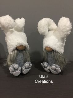 Easter bunnies Crafts To Do, Diy Craft Projects, Fall Crafts, Sewing Projects, Diy Crafts, Hippie Crafts, Craft Day, Space Crafts, Craft Fairs
