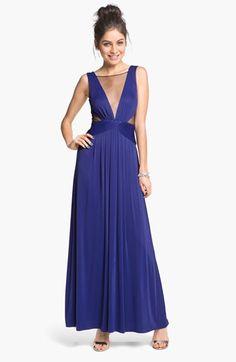 BCBGMAXAZRIA Magdalena Mesh Detail Jersey Dress | Nordstrom
