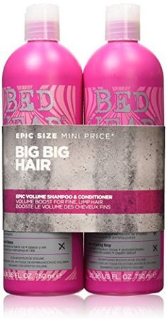 Tigi Bed Head StyleShots Epic Volume Shampoo and Conditioner Due Set 750 ml by Bed Head * Read more  at the image link. (This is an Amazon affiliate link and I receive a commission for the sales and I receive a commission for the sales)
