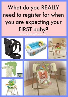 What do you REALLY need to register for when you are expecting your FIRST baby?  This list is a must read! #baby #PlanningForBaby