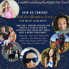 """It's a BIG night on the Dream Team! We are going LIVE in our """"Cash For Christmas"""" What is Coaching EVENT this evening! When I was just starting out as a BRAND NEW COACH all I wanted to do was help 1 other person feel the way that I had felt being a participant in a challenge group.  I wanted people to feel supported encouraged and successful.  I wanted to teach people how to make healthier choices how to kick bad habits and how to make exercise and nutrition a part of their lifestyle.  I…"""